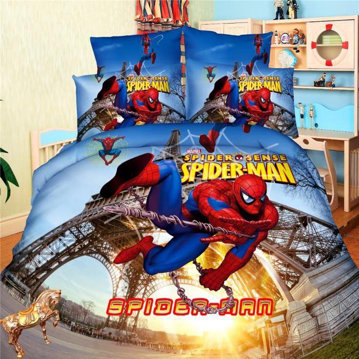 L m parure de lit enfant spider man 100 polyester - Parure de lit spiderman 1 personne ...