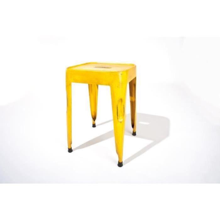 lot de 4 tabourets industriels marley couleur j achat vente tabouret m tal cdiscount. Black Bedroom Furniture Sets. Home Design Ideas