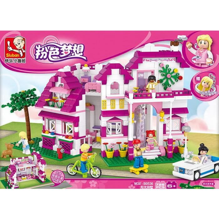 sluban r ve rose villas del sol jouets puzzle de montage blocs de construction achat vente. Black Bedroom Furniture Sets. Home Design Ideas