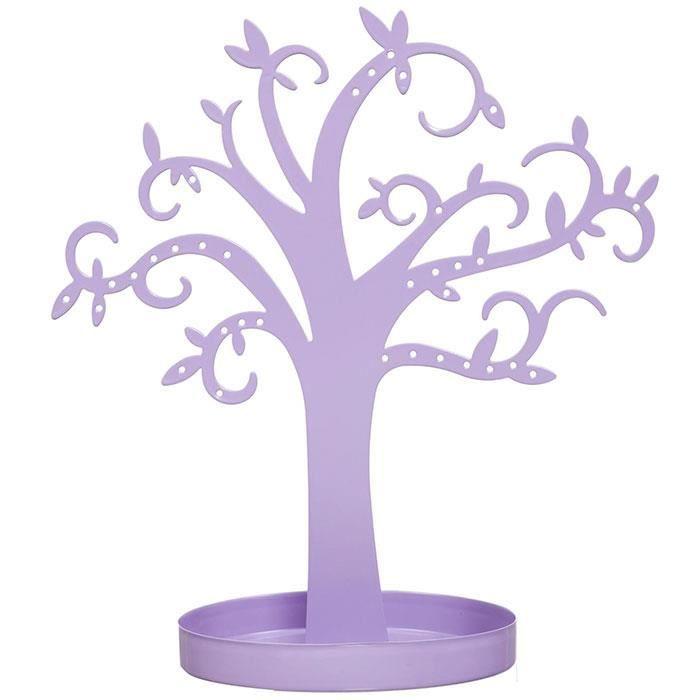 arbre porte bijoux d co en m tal couleur mauve achat vente boite a bijoux arbre porte. Black Bedroom Furniture Sets. Home Design Ideas