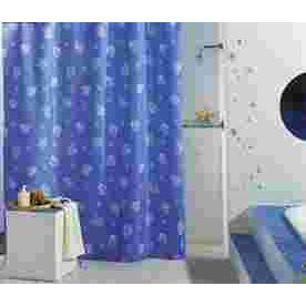 rideau de douche 39 caraibes 39 180x200 cm bleu achat vente rideau de douche tissu cdiscount. Black Bedroom Furniture Sets. Home Design Ideas