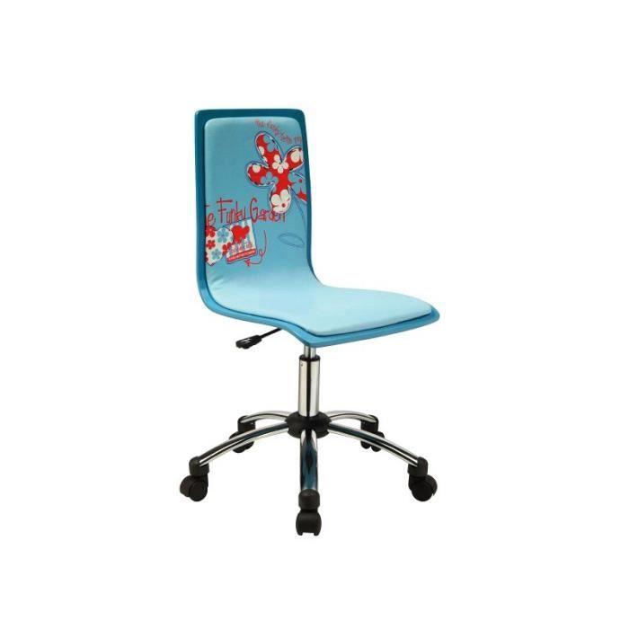 Justhome joy chaise fauteuil de bureau bleu 83 93 x 35 x for Chaise de bureau bleu