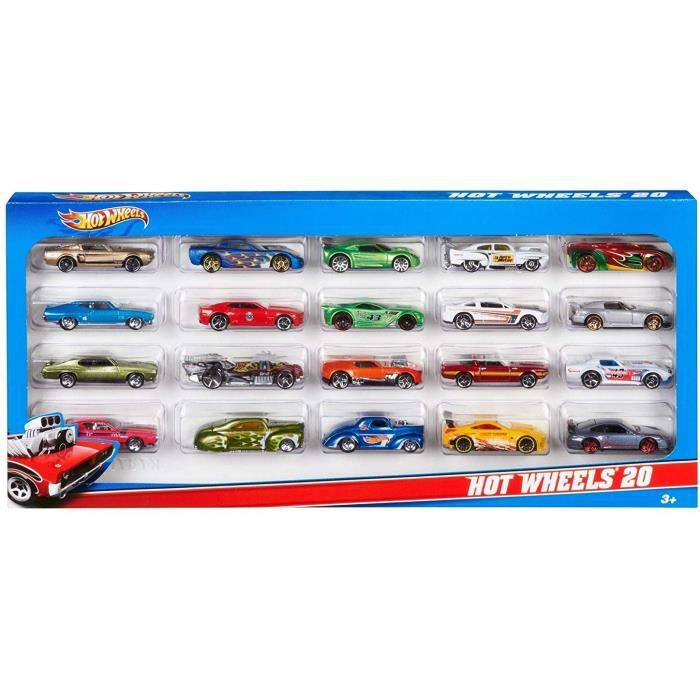 hot wheels coffret 20 voitures achat vente voiture camion cdiscount. Black Bedroom Furniture Sets. Home Design Ideas