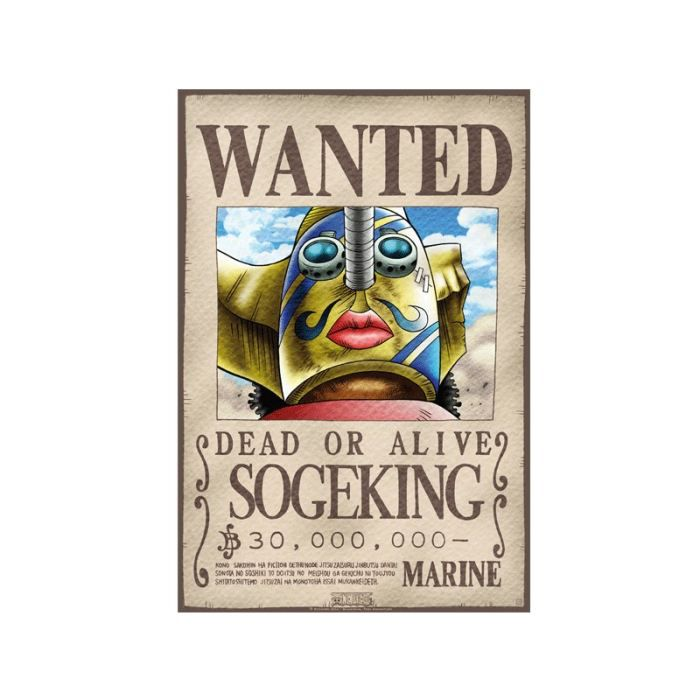 Poster one piece 39 wanted sogeking 39 52x38cm achat - Affiche wanted one piece ...