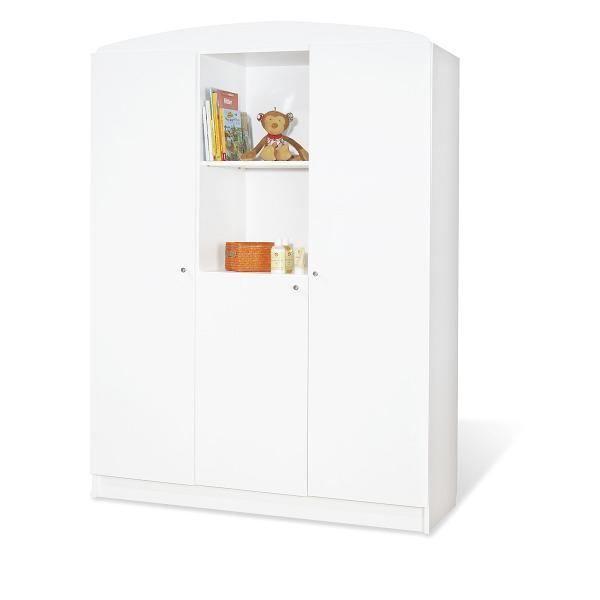 armoire enfant jill grand mod le blanc achat vente. Black Bedroom Furniture Sets. Home Design Ideas