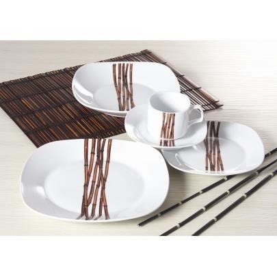 service de table en porcelaine bambou 20 pi ces achat. Black Bedroom Furniture Sets. Home Design Ideas