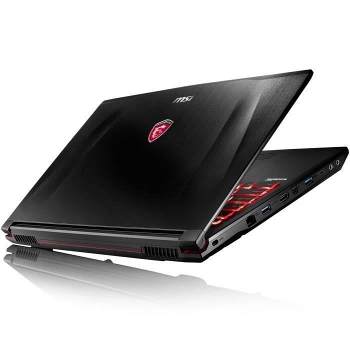 msi pc portable gamer ge62vr 6rf 045fr 15 6 39 39 ordinateurpascher. Black Bedroom Furniture Sets. Home Design Ideas