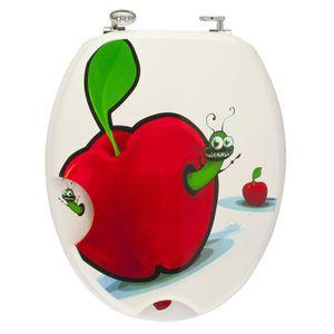 ABATTANT WC FRANDIS Abattant WC en MDF Pomme et Chenille