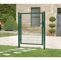 Portillon grillage l1000mm x h1030mm vert achat vente for Portillon jardin grillage