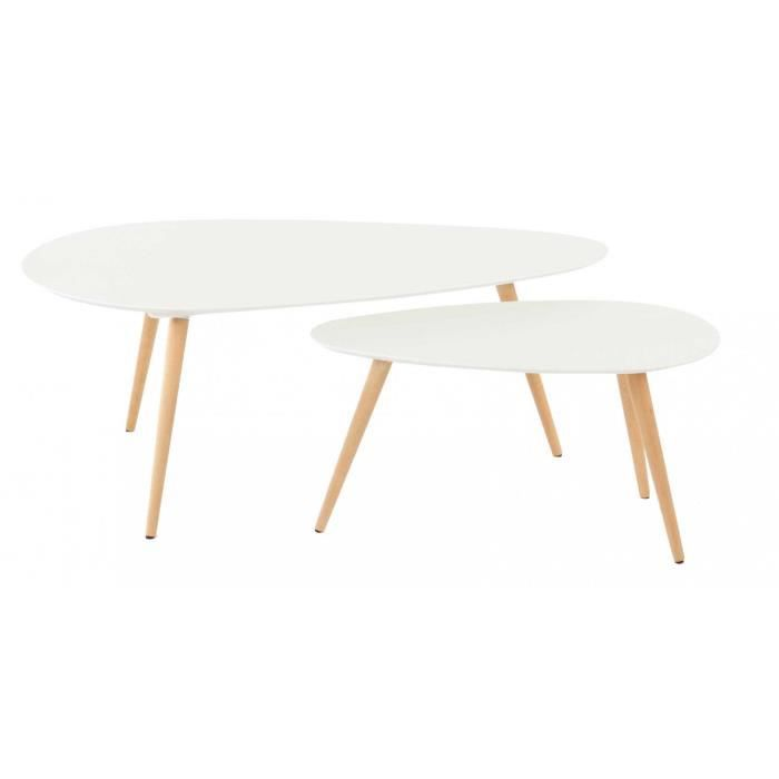 Tables basses gigognes vintages blanches achat vente for Grande table basse blanche