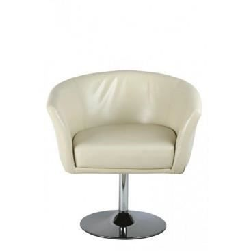 Fauteuil diego creme achat vente fauteuil caoutchouc cdiscount for Petit fauteuil salon design