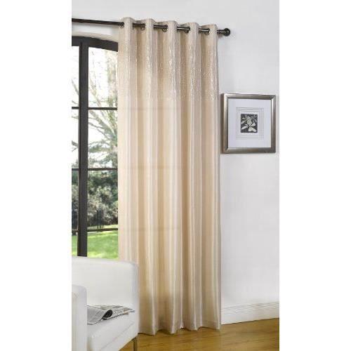 Dreams 39 n 39 drapes rideaux non doubl s naturel beige 55 x for Rideaux cuisine 70 x 90