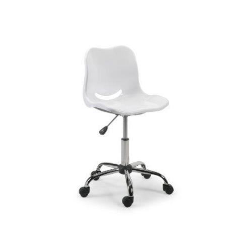 Julian bowen chaise de bureau pivotante blanc achat for Chaise de bureau blanc