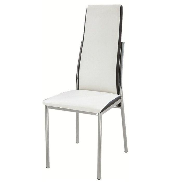 Chaise diva blanc noir achat vente chaise blanc for Chaise noir blanc