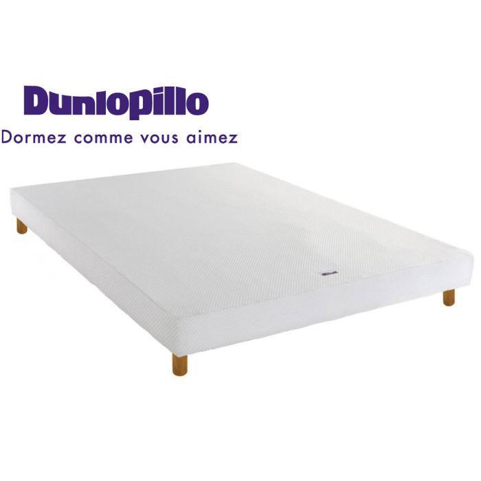 sommier bois massif dunlopillo avec pieds 13 5 achat vente sommier les soldes sur. Black Bedroom Furniture Sets. Home Design Ideas
