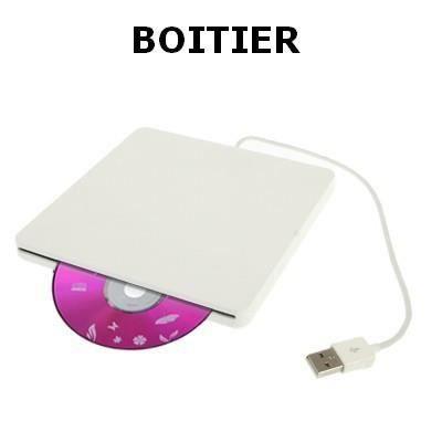 boitier pour lecteur graveur slim usb portable dvd prix pas cher cdiscount. Black Bedroom Furniture Sets. Home Design Ideas