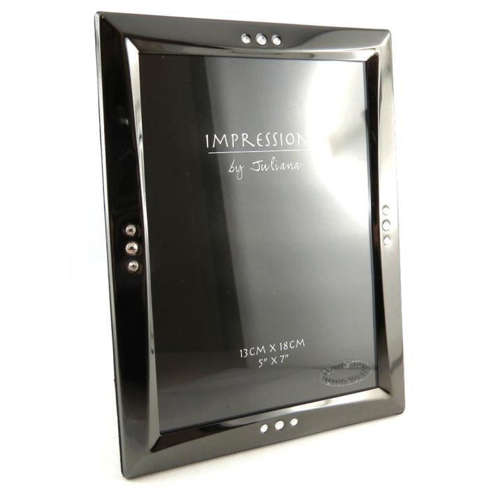 Cadre photo design gris anthracite 13x18 cm achat vente cadre photo soldes d t for Cadre photo design
