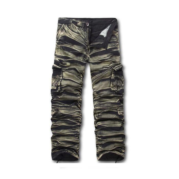 cargo pantalon coton militaire cotte homme camo. Black Bedroom Furniture Sets. Home Design Ideas