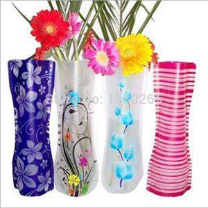 VASE - SOLIFLORE 2 Pcs  Té Pliage Vase / Couleuré Décoration Pour M