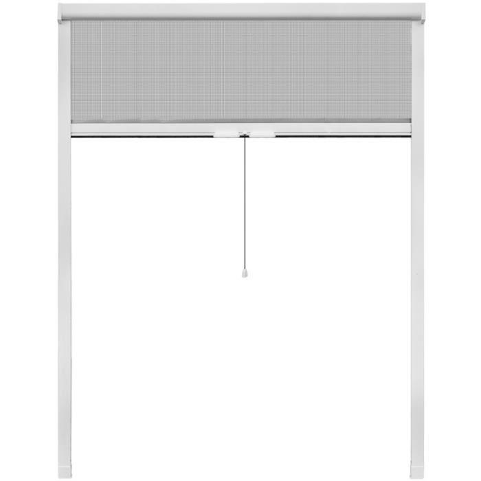 moustiquaires pour fenetre moustiquaire enroulable blanche pour fenetre 140 x 170 cm achat. Black Bedroom Furniture Sets. Home Design Ideas