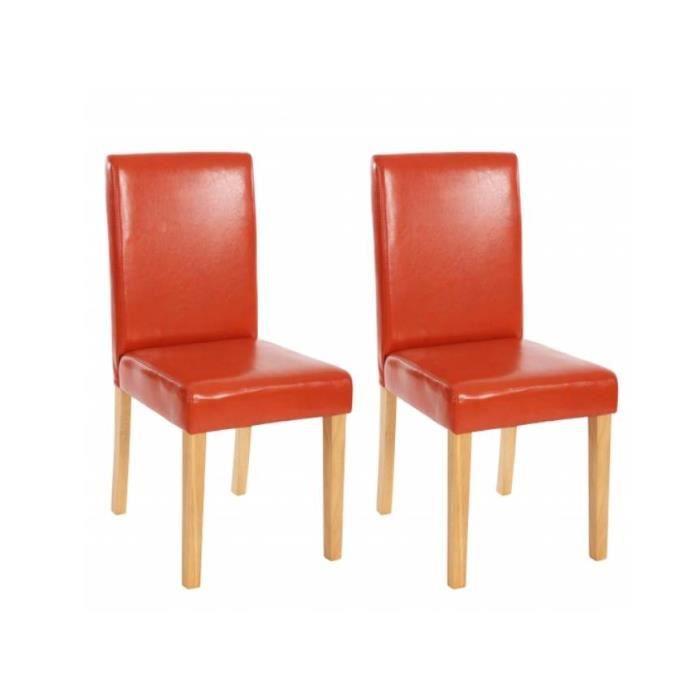 Chaise de salle manger lot de 2 naranja achat vente for Chaise confortable salle a manger