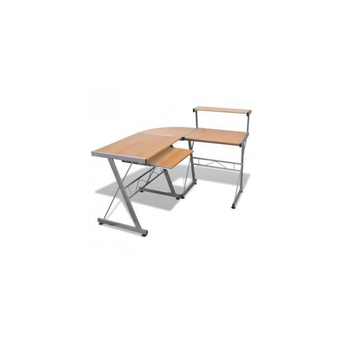 Grande table de bureau brun achat vente bureau grande for Table de bureau