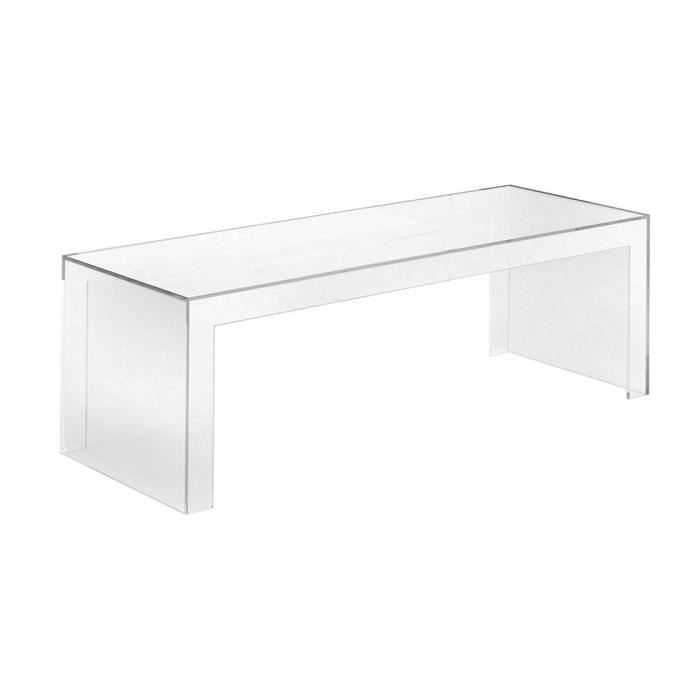 table basse transparente rectangulaire petit mod l achat vente table basse table basse. Black Bedroom Furniture Sets. Home Design Ideas