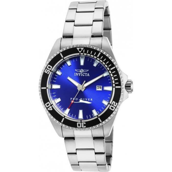 montre homme invicta pro diver 15184 cadran bleu et lunette noire achat vente montre montre. Black Bedroom Furniture Sets. Home Design Ideas