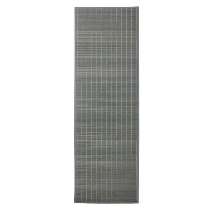 Tapis Bali Chic Gris Bambou 200x65cm Achat Vente Tapis Cdiscount