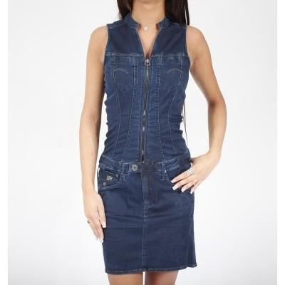 robe en jeans g star femme achat vente robe soldes d t cdiscount. Black Bedroom Furniture Sets. Home Design Ideas