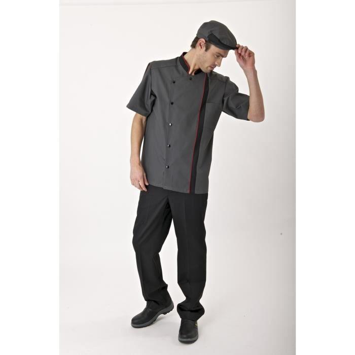 Vestes de cuisine dijon noir achat vente veste for Tenue professionnelle cuisine