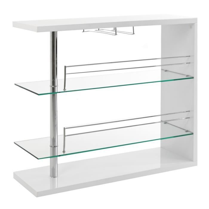Bar swithome primo blanc achat vente meuble bar bar swithome primo blanc - Meuble bar cdiscount ...