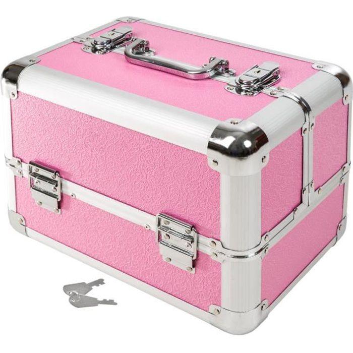 malette de maquillage cosm tique rose tectake rose achat vente valise bagage malette de. Black Bedroom Furniture Sets. Home Design Ideas