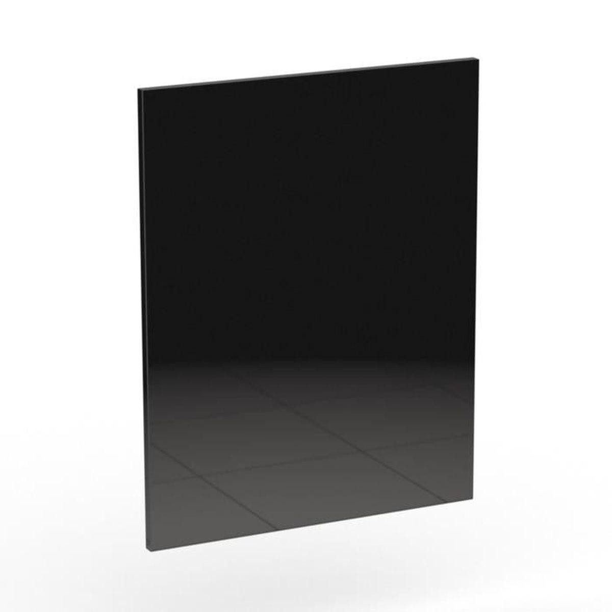 Rimini noir c t de remplacement noir brillant pour meuble for Element de cuisine noir brillant