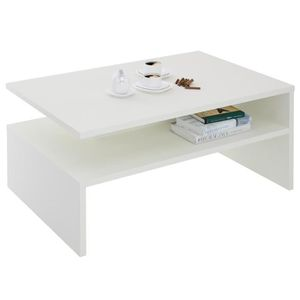 TABLE BASSE Table basse ADELAIDE mélaminé blanc