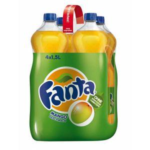 Soda - Thé glacé Fanta la saveur de mangue 4 x 1,5l