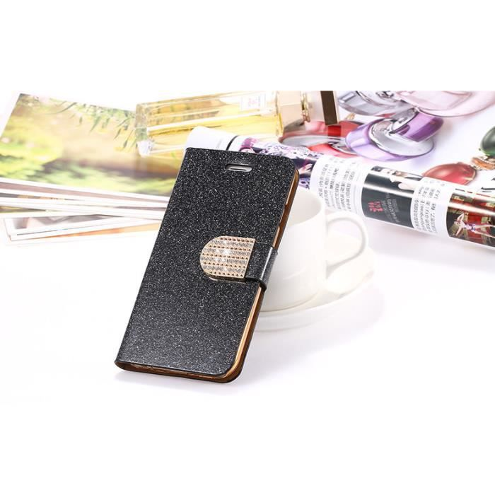Luxe luire housse coque iphone 6 6s plus noir achat for Housse iphone 6 luxe