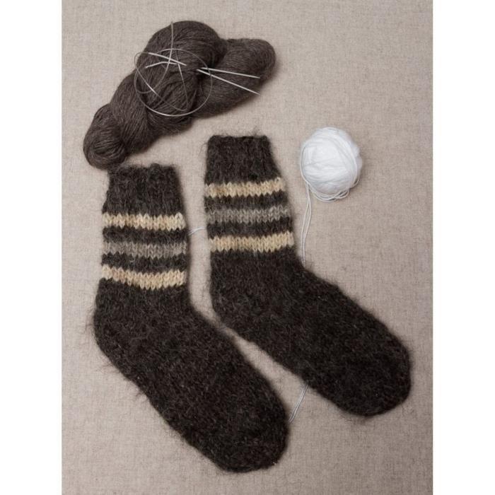 chaussettes en laine pour homme faites main noir achat vente chaussettes 2009918838048. Black Bedroom Furniture Sets. Home Design Ideas