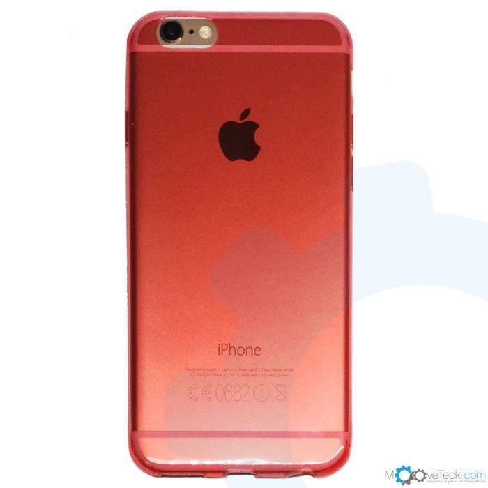 coque souple transparente rouge ultra fine pour iphone 6 plus achat coque bumper pas cher. Black Bedroom Furniture Sets. Home Design Ideas
