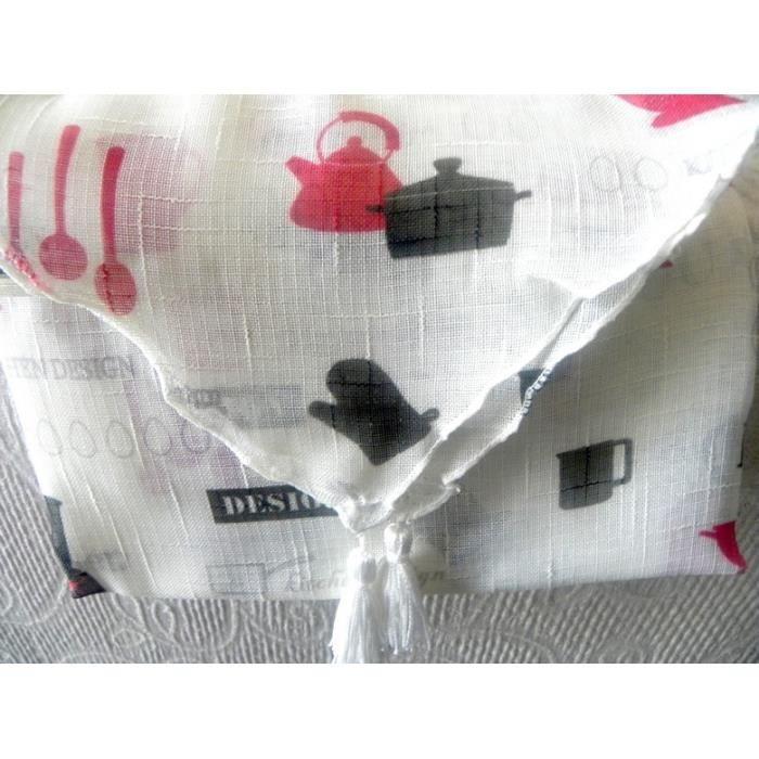 2 rideaux voilage pour cuisine 60 x 160 achat vente rideau soldes d t cdiscount. Black Bedroom Furniture Sets. Home Design Ideas