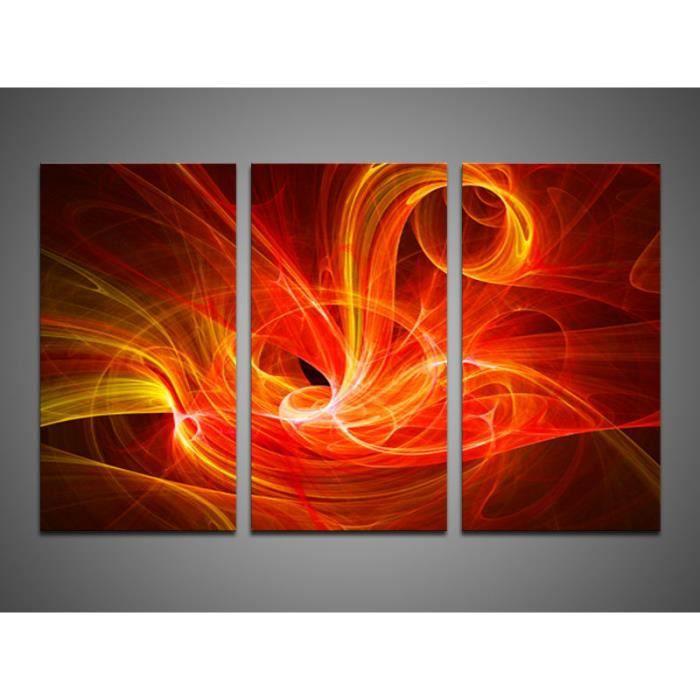 tableau triptyque design imprim 120x80 cm flamme achat vente tableau toile bois cdiscount. Black Bedroom Furniture Sets. Home Design Ideas