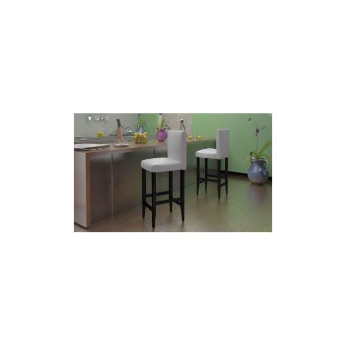 lot de 2 tabouret de bar achat vente tabouret de bar. Black Bedroom Furniture Sets. Home Design Ideas