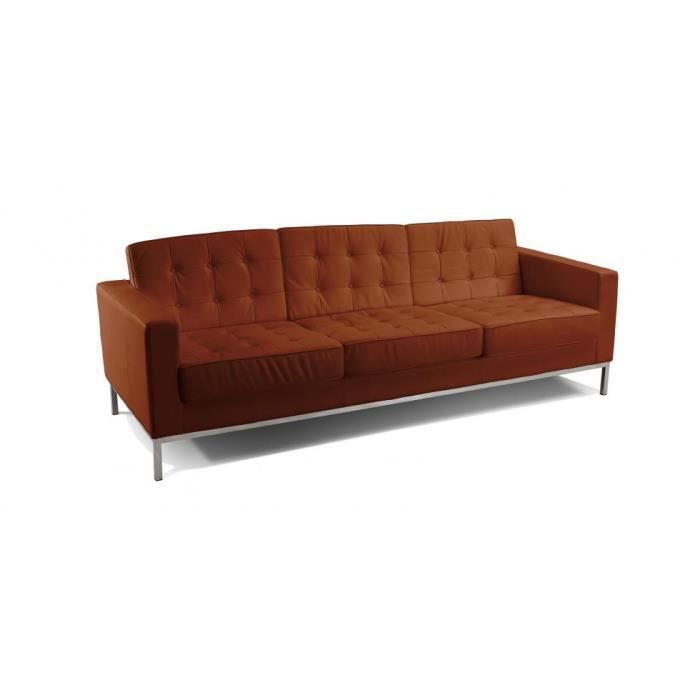 Canap design inspir florence knoll 3 places achat vente canap so - Canape 4 places soldes ...
