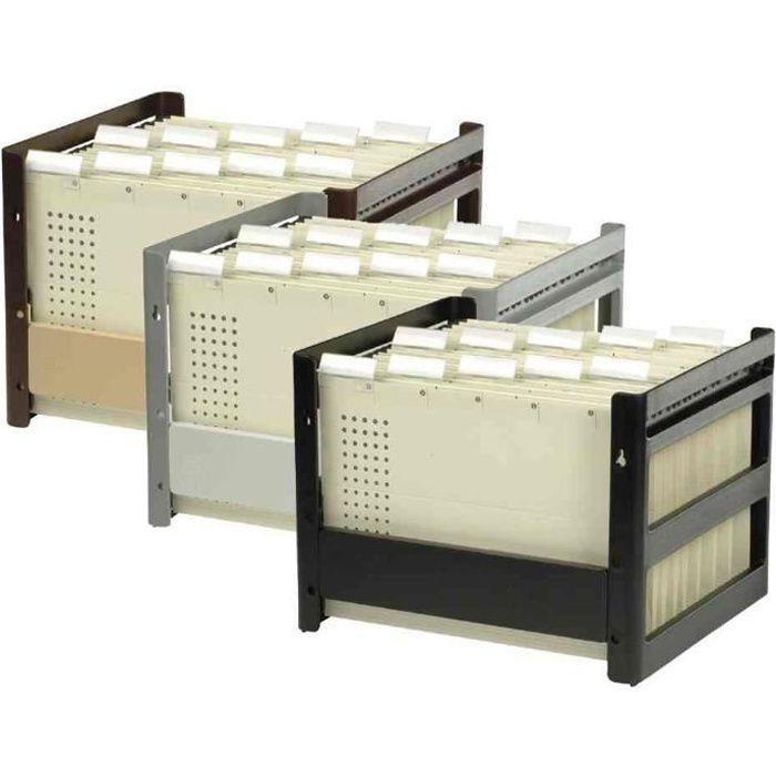 go fix conteneur pour dossiers suspendus noir achat vente meuble classement go fix. Black Bedroom Furniture Sets. Home Design Ideas