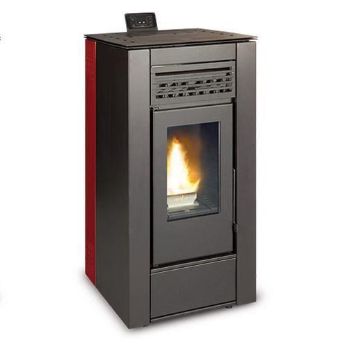 ferlux po le granul s pellets natalia 10kw rouge achat vente po le insert foyer. Black Bedroom Furniture Sets. Home Design Ideas