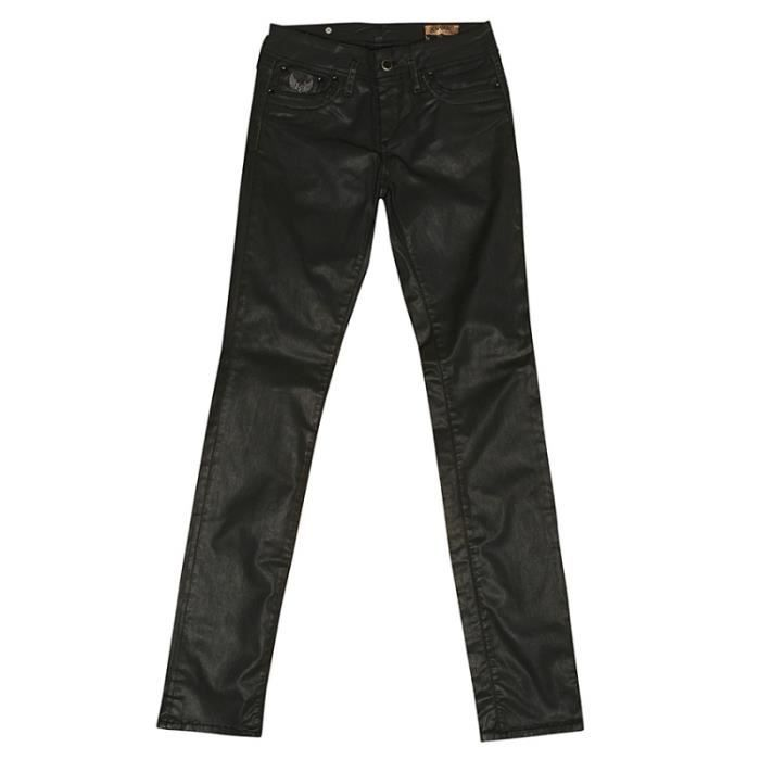 jeans femme kaporal lilou noir achat vente jeans cdiscount. Black Bedroom Furniture Sets. Home Design Ideas