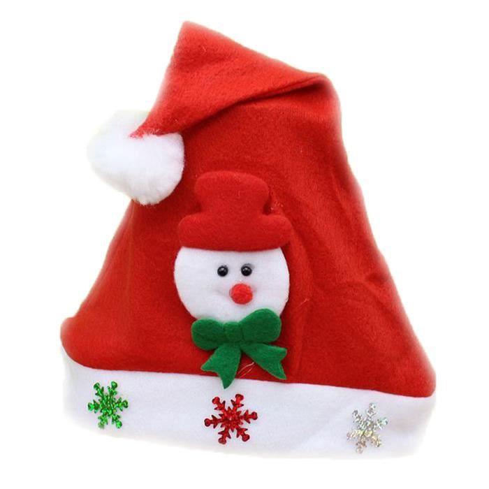 2 pcs chapeau de no l bonhomme de neige rouge b rouge b - Chapeau bonhomme de neige ...