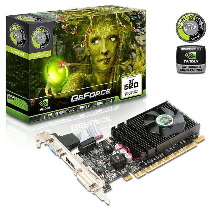 CARTE GRAPHIQUE INTERNE Point of View GT 520 2Go DDR3