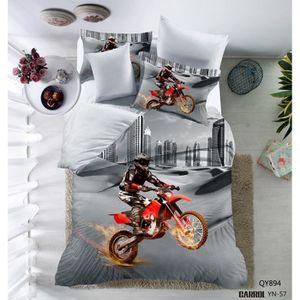 housse de couette moto cross achat vente housse de couette moto cross pas cher cdiscount. Black Bedroom Furniture Sets. Home Design Ideas