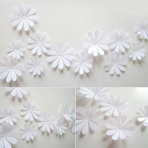 Decoration murale fleur 3d achat vente decoration for Papier miroir autocollant